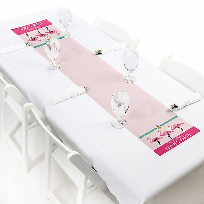 Pink Flamingo - Party Like a Pineapple - Personalized Party Petite Table Runner
