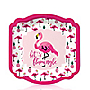 Flamingo - Party Like a Pineapple - Dessert Plates - 8 ct