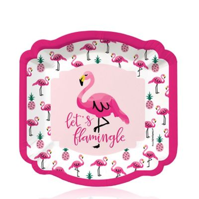 Flamingo - Party Like a Pineapple - Dessert Plates - 8 ct  sc 1 st  Big Dot of Happiness & Flamingo - Party Like a Pineapple - Birthday Party Theme ...