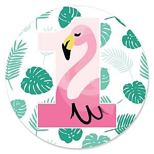 1st Birthday Pink Flamingo-TropicalFirst Birthday Party Theme