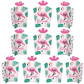 Pink Flamingo - Party Like a Pineapple - Table Decorations - Tropical Summer Party Fold and Flare Centerpieces - 10 Count