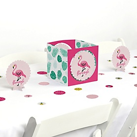 Pink Flamingo - Party Like a Pineapple - Baby Shower or Birthday Party Centerpiece and Table Decoration Kit
