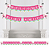 Flamingo - Party Like a Pineapple - Personalized Party Bunting Banner & Decorations