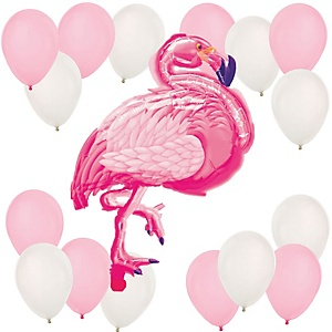 Flamingo - Party Like a Pineapple - Mylar Balloon Kit
