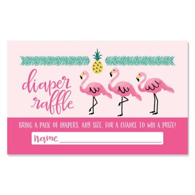 Amazing Flamingo   Party Like A Pineapple   Diaper Raffle Girl Baby Shower Game    18 Ct