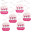 Flamingo - Party Like a Pineapple - Party Hanging Decorations - 6 ct
