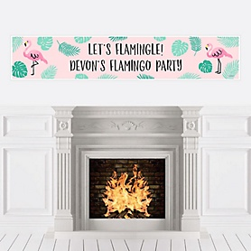 Pink Flamingo - Tropical Summer Personalized Party Banners