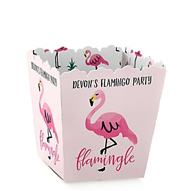 Pink Flamingo - Party Like a Pineapple - Party Mini Favor Boxes - Personalized Party Treat Candy Boxes - Set of 12