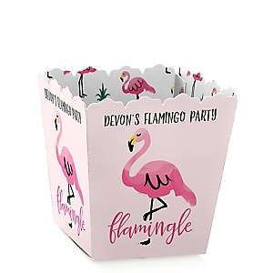 Flamingo - Party Like a Pineapple - Personalized Baby Shower Candy Boxes