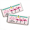 Flamingo - Party Like a Pineapple - Personalized Party Candy Bar Wrapper Favors