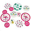 Flamingo - Party Like a Pineapple - Personalized Baby Shower Giant Circle Confetti - Pink Flamingo Party Decorations - Large Confetti 27 Count