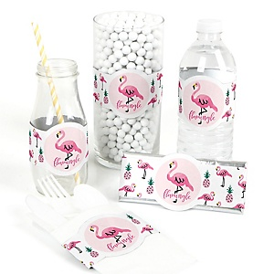 Pink Flamingo - Party Like a Pineapple - DIY Party Wrappers - 15 ct