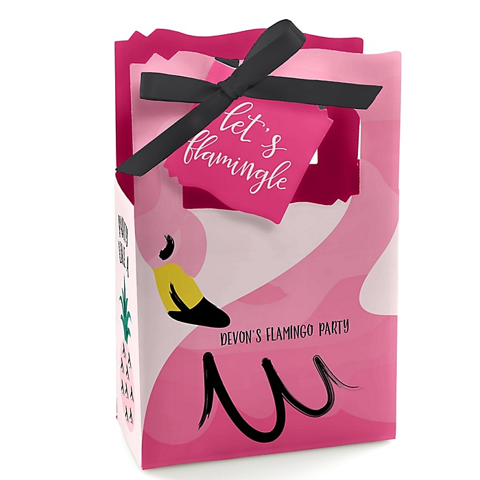 Pink Flamingo - Party Like a Pineapple - Personalized Party Favor Boxes - Set of 12