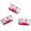Flamingo - Party Like a Pineapple - Personalized Party Mini Candy Bar Wrapper Favors - 20 ct