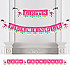 Flamingo - Party Like a Pineapple - Let's Flamingle Party Bunting Banner & Decorations
