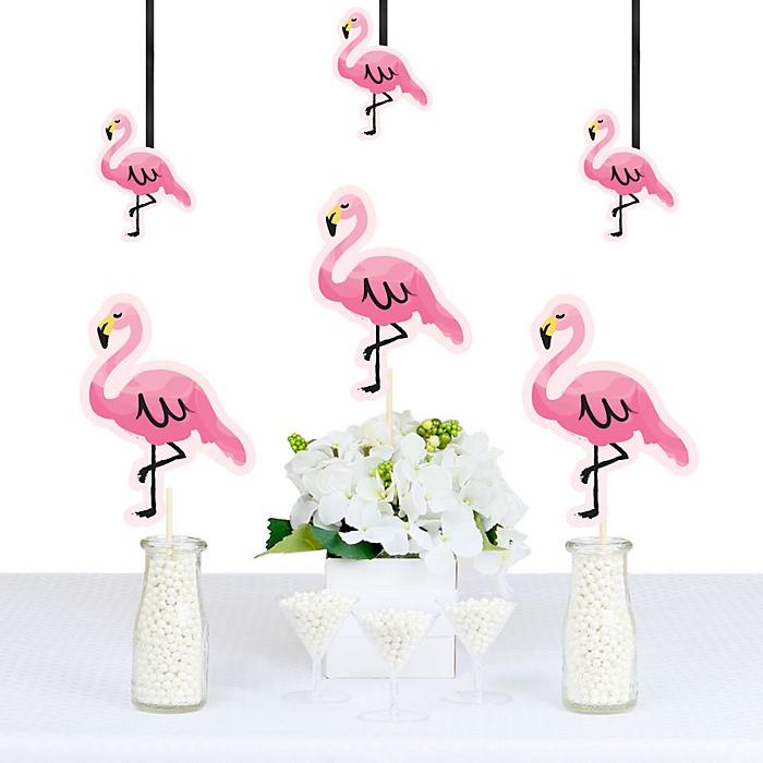Pink Flamingo - Decorations DIY Party Essentials - Set of 20