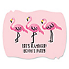 Flamingo - Party Like a Pineapple - Personalized Party Squiggle Stickers - 16 ct