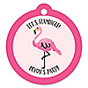 Flamingo - Party Like a Pineapple - Personalized Party Tags - 20 ct