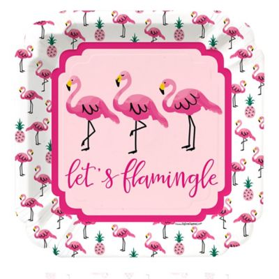 Flamingo - Party Like a Pineapple - Dinner Plates - 8 ct  sc 1 st  Big Dot of Happiness & Flamingo - Party Like a Pineapple - Birthday Party Theme ...