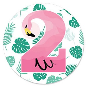 2nd Birthday - Pink Flamingo - Tropical Second Birthday Party Theme