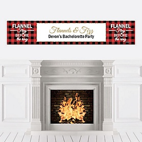 Flannel Fling Before The Ring - Personalized Buffalo Plaid Bachelorette & Bridal Shower Party Banners