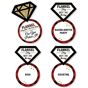 Flannel Fling Before The Ring - Bridal Shower or Bachelorette Party Game - Can You Picture It Card Game - Set of 24