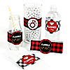Flannel Fling Before The Ring - Buffalo Plaid Bachelorette Party & Bridal Shower - DIY Party Wrappers - 15 ct