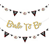 Flannel Fling Before The Ring - Buffalo Plaid Bachelorette Party Letter Banner Decoration - 36 Banner Cutouts and No-Mess Real Gold Glitter Bride To Be Banner Letters