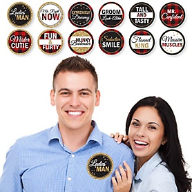 Flannel Fling Before The Ring - Bridal Shower or Bachelorette Party Man Hunt Stickers - Set of 12