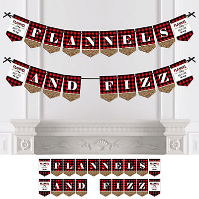 flannel fling before the ring personalized bachelorette party bridal shower bunting banner decorations bigdotofhappinesscom