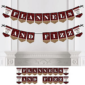 Flannel Fling Before The Ring - Personalized Buffalo Plaid Bachelorette Party & Bridal Shower Bunting Banner & Decorations