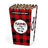 Flannel Fling Before The Ring - Personalized Buffalo Plaid Bachelorette Party & Bridal Shower Popcorn Favor Treat Boxes - Set of 12