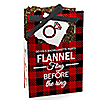 Flannel Fling Before The Ring - Personalized Buffalo Plaid Bachelorette Party & Bridal Shower Favor Boxes - Set of 12