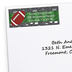 End Zone - Football - Personalized Baby Shower Return Address Labels - 30 ct