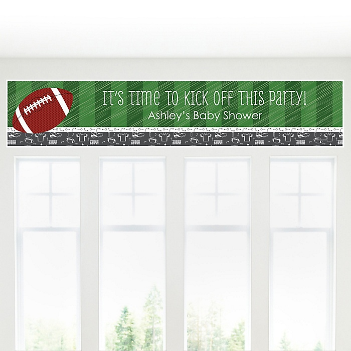 End Zone - Football - Personalized Baby Shower Banners