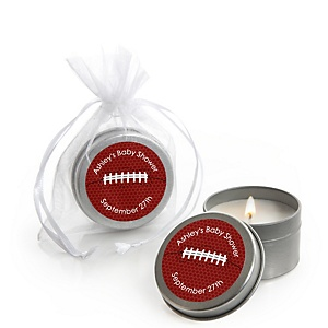 End Zone - Football - Candle Tin Personalized Baby Shower Favors