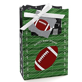 End Zone - Football - Personalized Baby Shower Favor Boxes - Set of 12