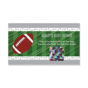 End Zone - Football - Personalized Baby Shower Game Scratch Off Cards - 22 ct