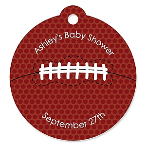 End Zone - Football - Personalized Baby Shower Tags - 20 ct