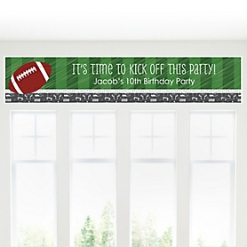 End Zone - Football - Personalized Birthday Party Banners