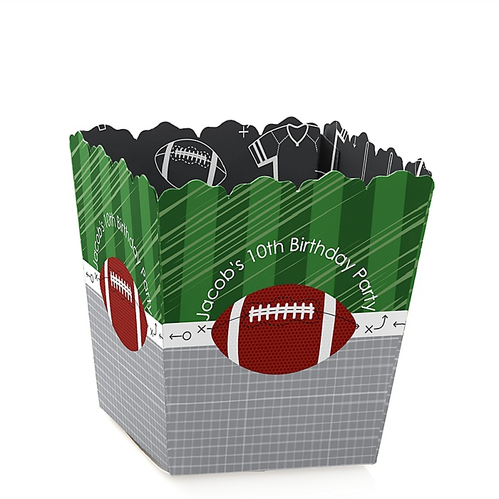 End Zone - Football - Party Mini Favor Boxes - Personalized Birthday Party Treat Candy Boxes - Set of 12
