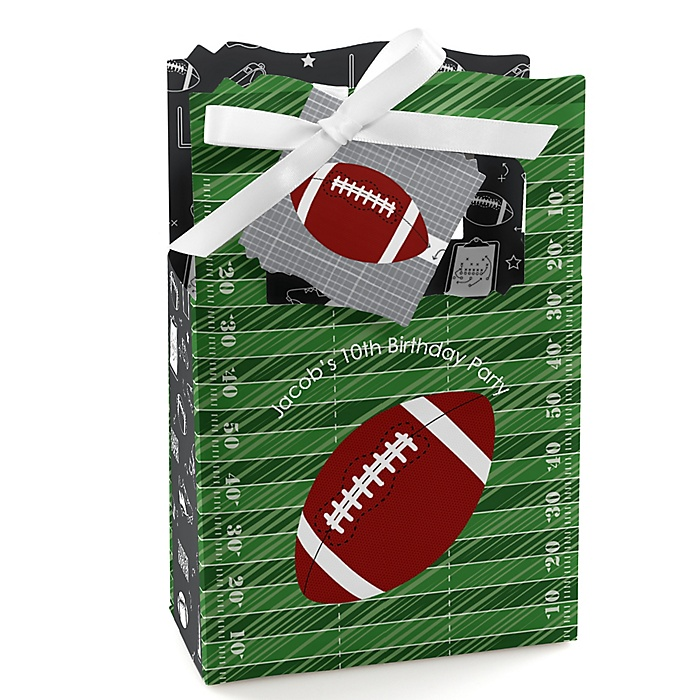 End Zone - Football - Personalized Birthday Party Favor Boxes - Set of 12