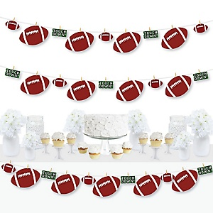 End Zone - Football - Baby Shower or Birthday Party DIY Decorations - Clothespin Garland Banner - 44 Pieces