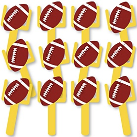 End Zone - Football Fundraising - Spirit Cheer Gear - Fan Sports Swag Paddles - Set of 12