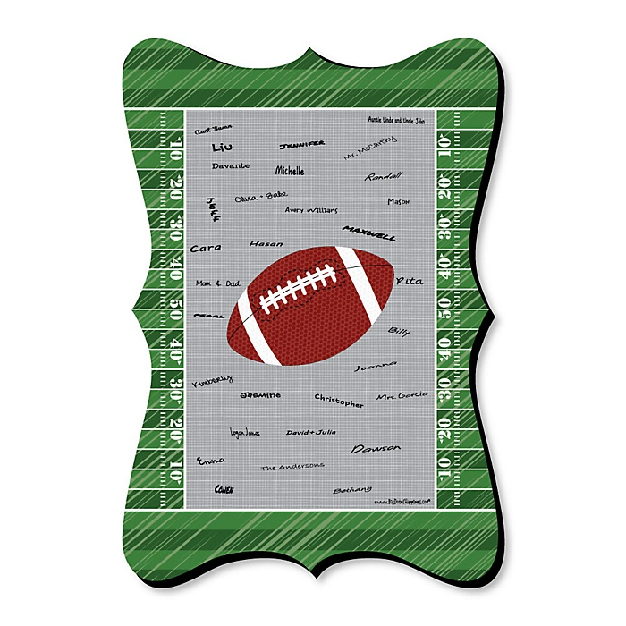 End Zone - Football - Unique Alternative Guest Book - Baby Shower or Birthday Party Signature Mat