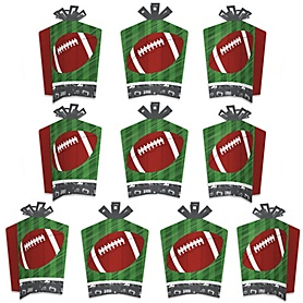 End Zone - Football - Table Decorations - Baby Shower or Birthday Party Fold and Flare Centerpieces - 10 Count
