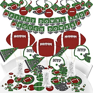 End Zone - Football - Baby Shower or Birthday Party Supplies - Banner Decoration Kit - Fundle Bundle