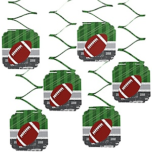 End Zone - Football - Birthday Party Hanging Decorations - 6 ct