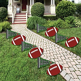 End Zone - Football - Lawn Decorations - Outdoor Baby Shower or Birthday Party Yard Decorations - 10 Piece