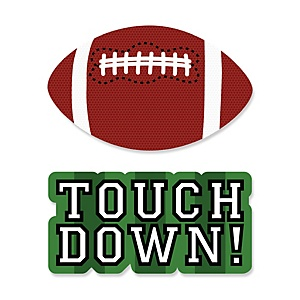 End Zone - Football - Shaped Party Paper Cut-Outs - 24 ct